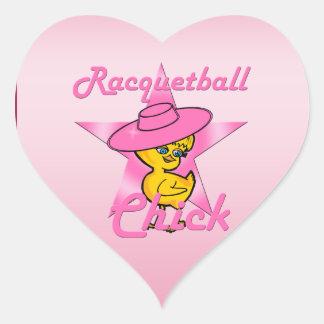 Pegatina En Forma De Corazón Polluelo #8 del Racquetball