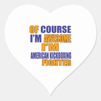 Pegatina En Forma De Corazón Por supuesto soy combatiente de Kickboxing del