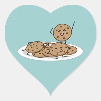 Pegatina En Forma De Corazón Postre cocido de la placa de las galletas de