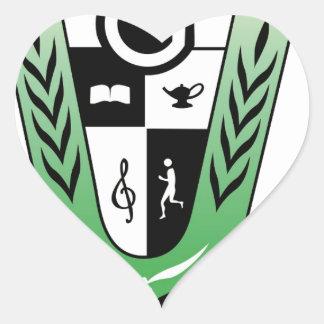 Pegatina En Forma De Corazón Productos del escudo de la reunión de los alumnos