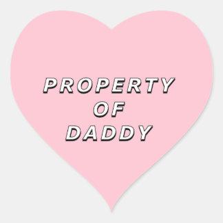 Pegatina En Forma De Corazón Propiedad de los pegatinas del papá