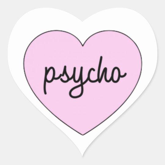 Pegatina En Forma De Corazón Psycho