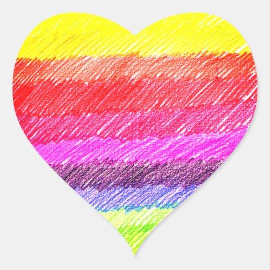 Pegatina En Forma De Corazón Rainbow