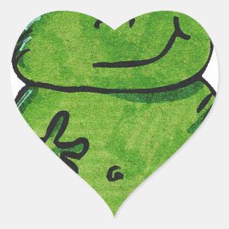 Pegatina En Forma De Corazón Rana Frog