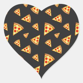 Pegatina En Forma De Corazón Refresqúese y la pizza de la diversión corta el