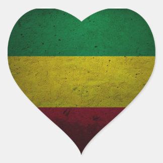 Pegatina En Forma De Corazón Reggae Vibrations jah Rasta bordadora - One love -