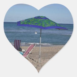 Pegatina En Forma De Corazón Relájese en la playa