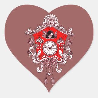 Pegatina En Forma De Corazón Reloj de cuco