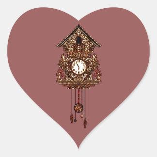 Pegatina En Forma De Corazón Reloj de cuco 2