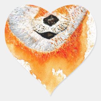 Pegatina En Forma De Corazón Retrato de Shiba Inu