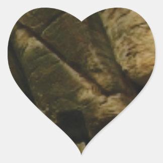 Pegatina En Forma De Corazón rocas grises del estruendo