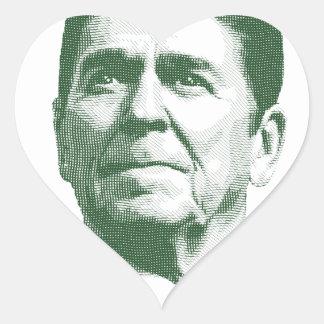 Pegatina En Forma De Corazón Ronald Reagan una nación debajo de dios