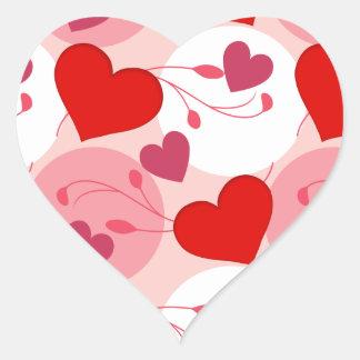 Pegatina En Forma De Corazón Rosa romántico del día de San Valentín del amor de