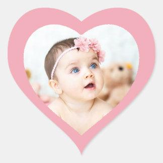 Pegatina en forma de corazón rosado lindo de