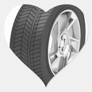 Pegatina En Forma De Corazón Rueda de coche