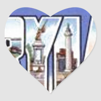 Pegatina En Forma De Corazón Saludos de Maryland
