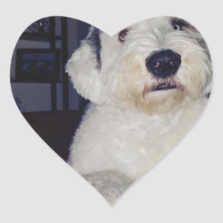Pegatina En Forma De Corazón Sam el perro pastor