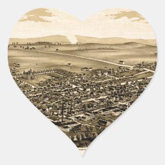 Pegatina En Forma De Corazón schuylerville1889