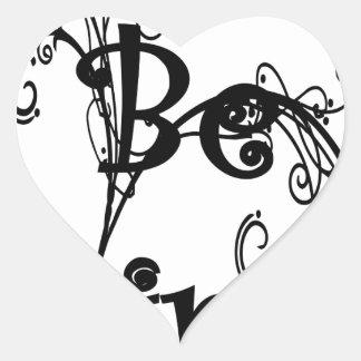 Pegatina En Forma De Corazón sea kind3