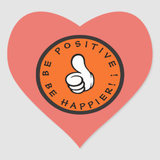 Pegatina En Forma De Corazón ¡Sea positivo! ¡Sea más feliz!