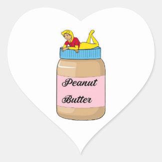 Pegatina En Forma De Corazón Sensación de la mantequilla de cacahuete