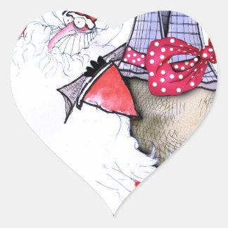 Pegatina En Forma De Corazón ShardArt Santa gordo de Tony Fernandes