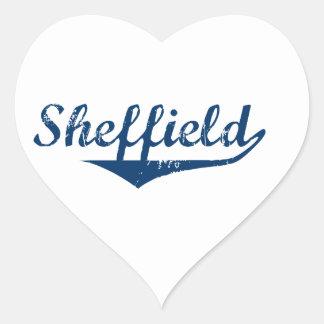 Pegatina En Forma De Corazón Sheffield