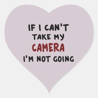 Pegatina En Forma De Corazón Si no puedo tomar mi cámara…