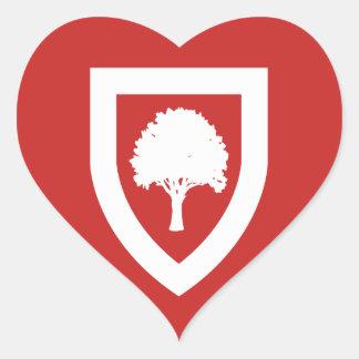 Pegatina En Forma De Corazón Siete robles - pegatinas del amor