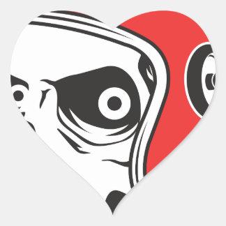 Pegatina En Forma De Corazón ☞ Skullracer motorcycle helmet