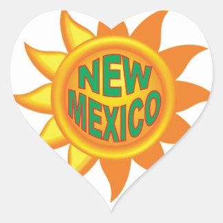 Pegatina En Forma De Corazón Sol de New México