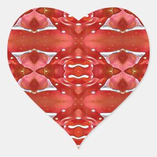 Pegatina En Forma De Corazón Sombras del diseño festivo moderno rojo