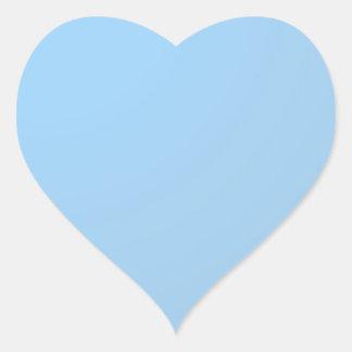 Pegatina En Forma De Corazón Sombras llanas: Azules cielos