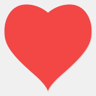 Pegatina En Forma De Corazón Sombras PÚRPURAS ROSADAS ROJAS llanas