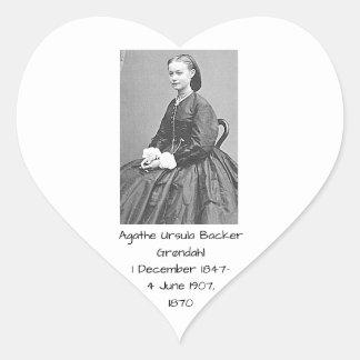 Pegatina En Forma De Corazón Soporte Grondahl, 1870 de Ágata Ursula