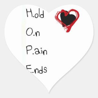 Pegatina En Forma De Corazón Sosténgase en extremos del dolor