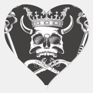Pegatina En Forma De Corazón Sr. Skull