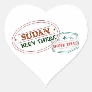 Pegatina En Forma De Corazón Sudán allí hecho eso