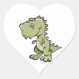 Pegatina En Forma De Corazón T-Rex