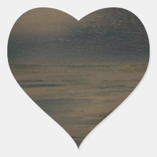 Pegatina En Forma De Corazón tarde perezosa en la playa