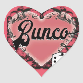 Pegatina En Forma De Corazón tatuaje del corazón del bunco