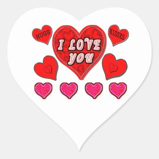 Pegatina En Forma De Corazón Te amo