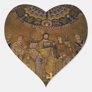 Pegatina En Forma De Corazón Templo del arco de la bóveda de la iglesia