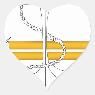 Pegatina En Forma De Corazón teniente del oro, fernandes tony