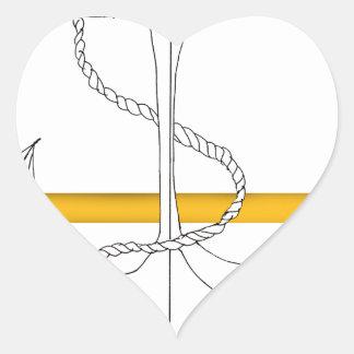 Pegatina En Forma De Corazón teniente sub del oro, fernandes tony
