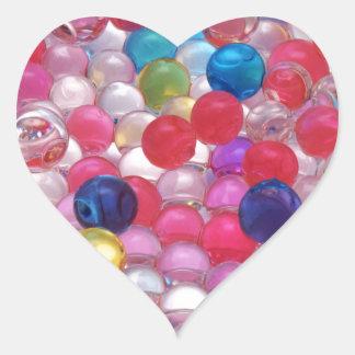 Pegatina En Forma De Corazón textura de las bolas de la jalea del colore