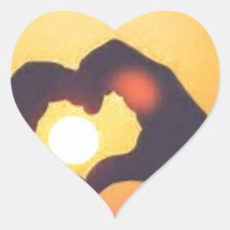 Pegatina En Forma De Corazón th