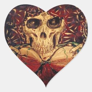 Pegatina En Forma De Corazón tiempo y muerte