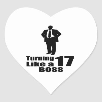 Pegatina En Forma De Corazón Torneado de 17 como Boss