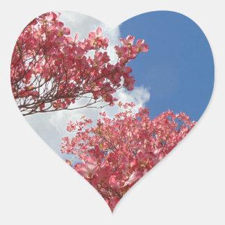 Pegatina En Forma De Corazón Torrente de flores